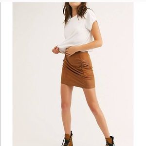 NWT Free People Rumi Ruched Skirt